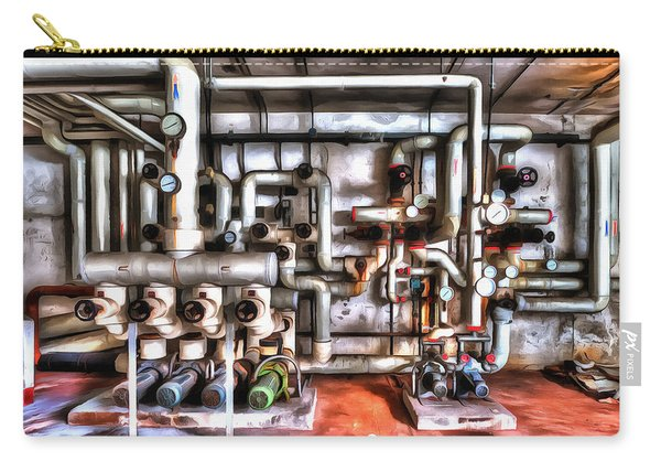 Office Building Pump Room - Sala Pompe Palazzo Abbandonato Paint Carry-all Pouch