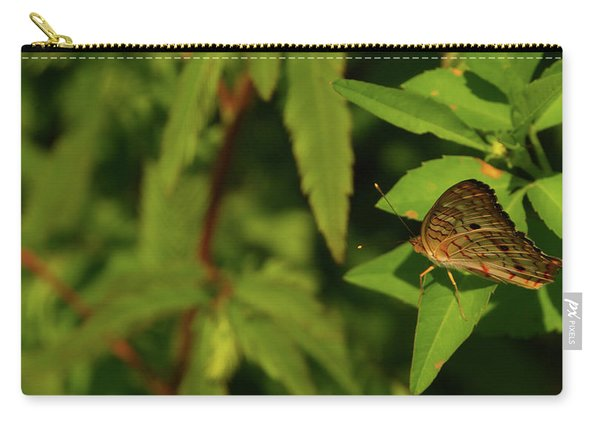 Offset Image Of A Brown Butterfly Carry-all Pouch