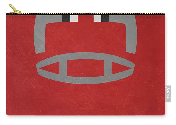 Ohio State Buckeyes Vintage Football Art Carry-all Pouch