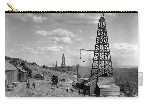 Oil Well, Wyoming, C1910 Carry-all Pouch