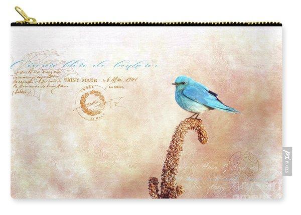 Oiseau Bleu De Bonheur Carry-all Pouch