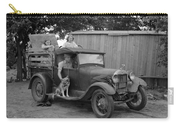 Okies Heading To California - Great Depression - 1939 Carry-all Pouch