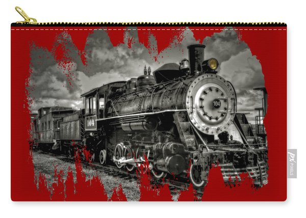 Old 104 Steam Engine Locomotive Carry-all Pouch