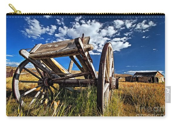 Carry-all Pouch featuring the photograph Old Abandoned Wagon, Bodie Ghost Town, California by Sam Antonio Photography