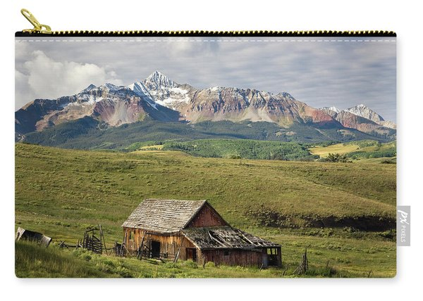 Old Barn And Wilson Peak Horizontal Carry-all Pouch