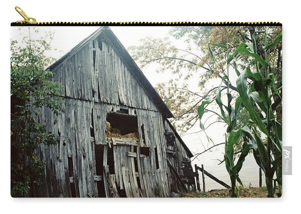 Old Barn In The Morning Mist Carry-all Pouch
