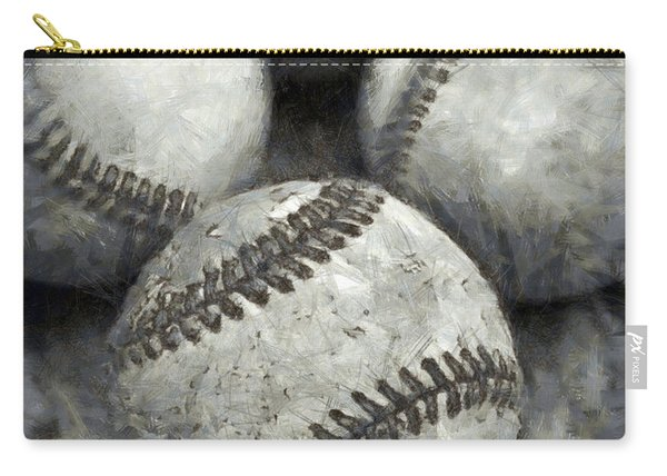 Old Baseballs Pencil Carry-all Pouch