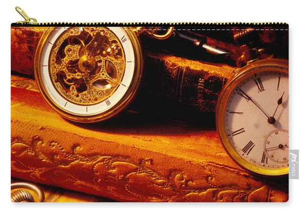 Old Books And Pocket Watches Carry-all Pouch