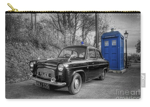 Old British Police Car And Tardis Carry-all Pouch