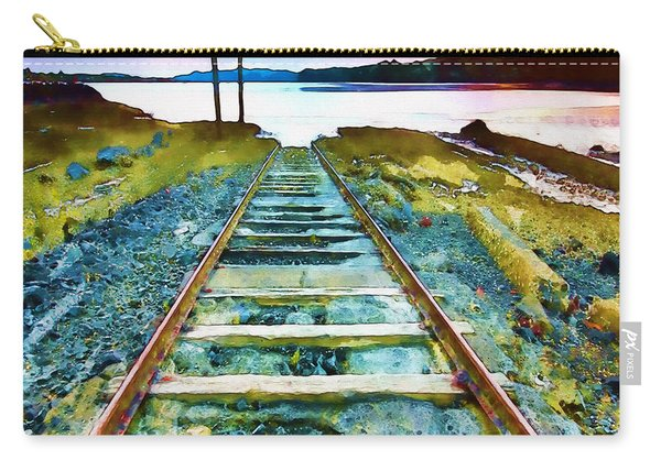 Old Broken Railway Track Watercolor Carry-all Pouch