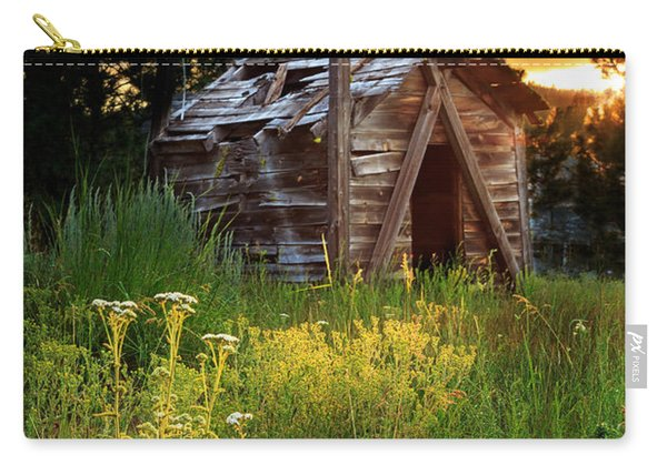 Old Cabin At Sunset Carry-all Pouch