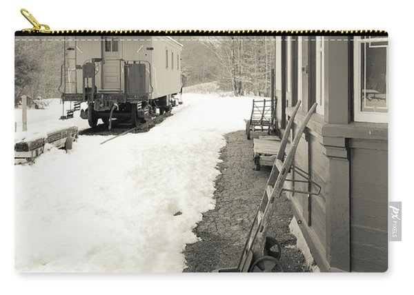 Old Caboose At Period Train Depot Winter Carry-all Pouch