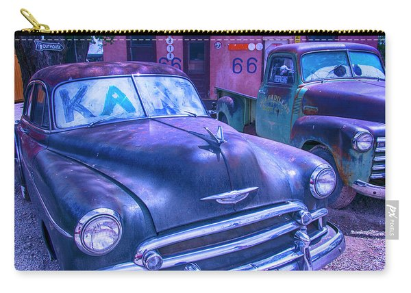 Old Car And Pickup Route 66 Carry-all Pouch