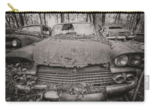 Old Car City In Black And White Carry-all Pouch