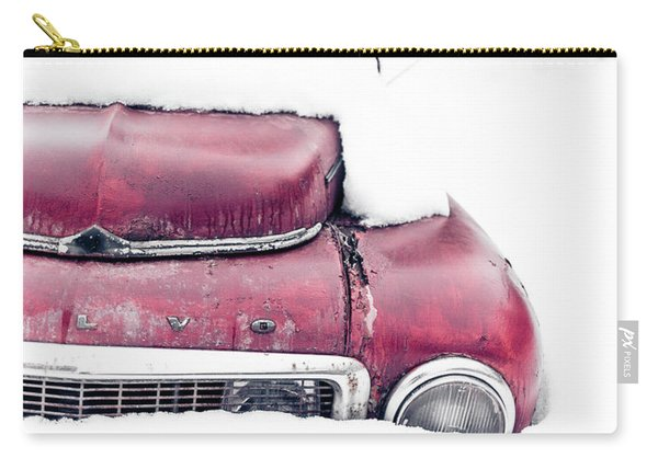 Old Car In A Snow Bank Carry-all Pouch