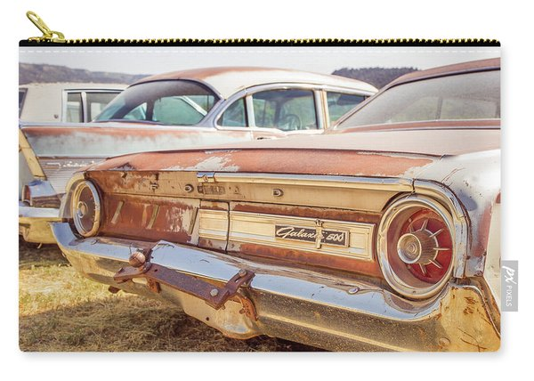 Old Cars At A Junkyard Utah Carry-all Pouch