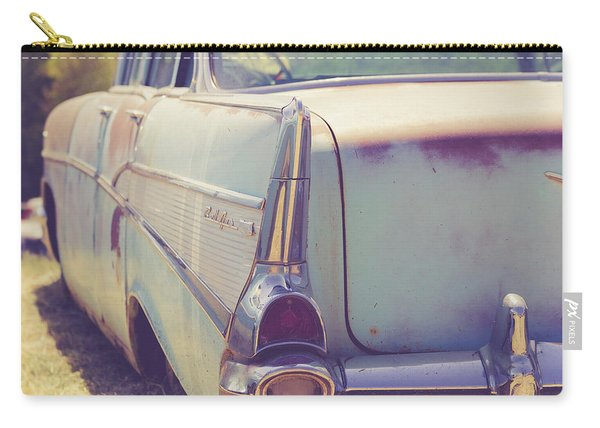 Old Chevy Bel Air Junkyard Utah Carry-all Pouch