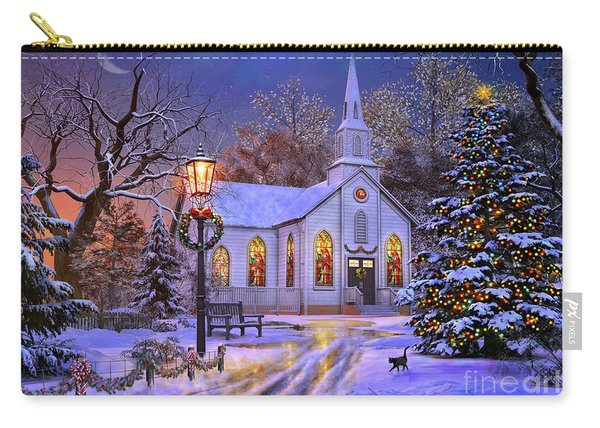 Old Church At Christmas Carry-all Pouch