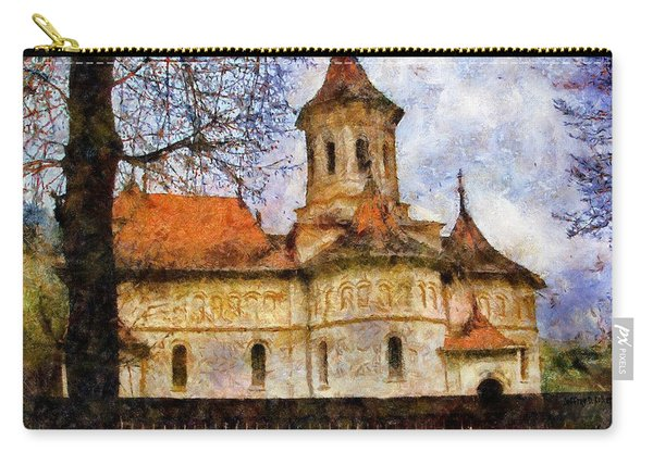 Old Church With Red Roof Carry-all Pouch