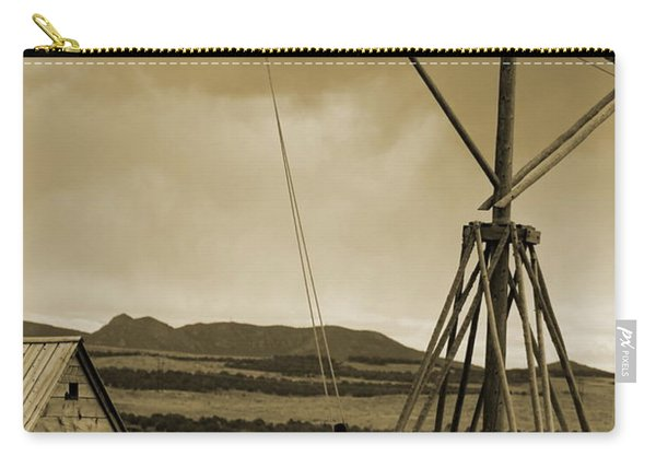 Old Crane And Shed Utah Countryside In Sepia Carry-all Pouch