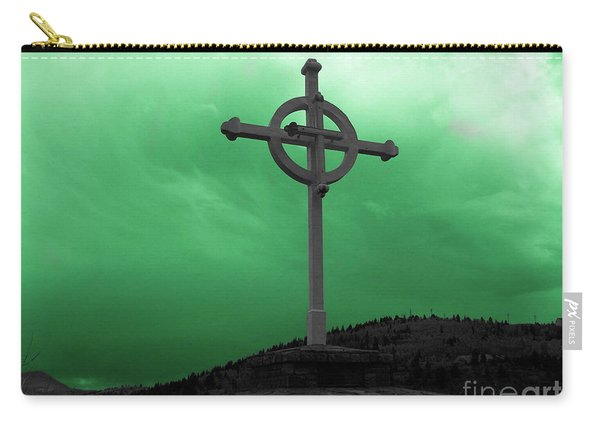 Old Cross - Green Sky Carry-all Pouch
