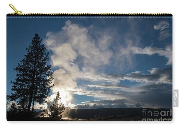 Old Faithfull At Sunset Carry-all Pouch
