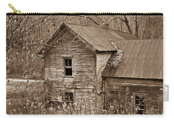 Old Farm House In Sepia 6 Carry-all Pouch
