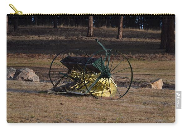 Carry-all Pouch featuring the photograph Old Farm Implement Lake George Co by Margarethe Binkley