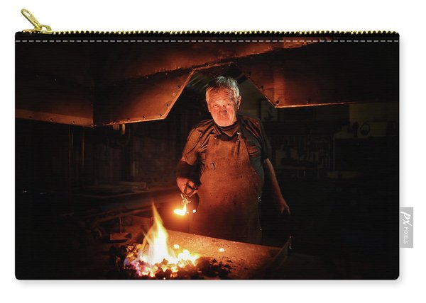 Old-fashioned Blacksmith Heating Iron Carry-all Pouch