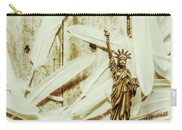 Old-fashioned Statue Of Liberty Monument Carry-all Pouch