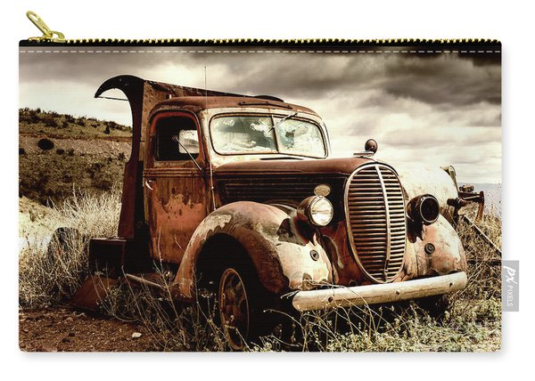 Old Ford Truck In Desert Carry-all Pouch
