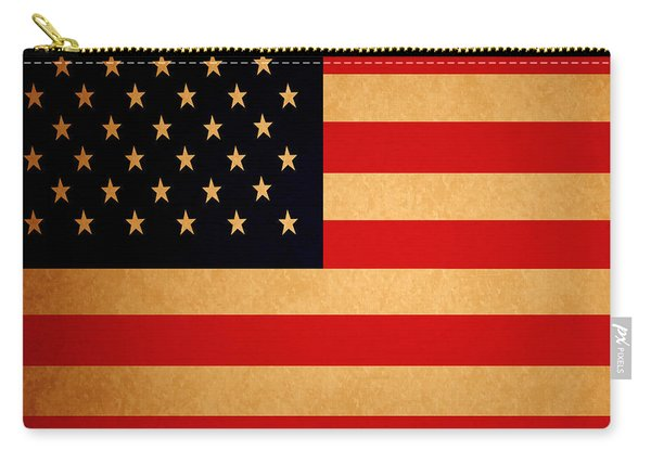 Old Glory . Square Carry-all Pouch