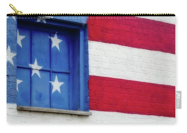 Old Glory, American Flag Mural, Street Art Carry-all Pouch
