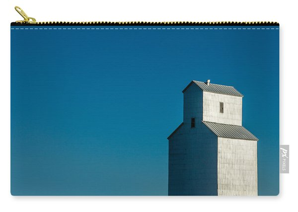 Old Grain Elevator Against Steel Blue Sky Carry-all Pouch