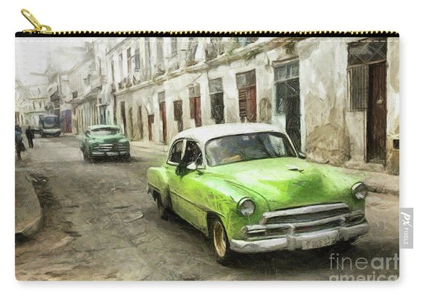 Old Green Car Carry-all Pouch