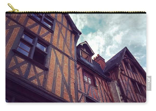 Old Half-timbered Houses In Tours, France Carry-all Pouch