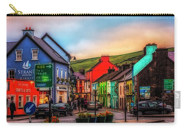 Old Irish Town The Dingle Peninsula At Sunset Carry-all Pouch