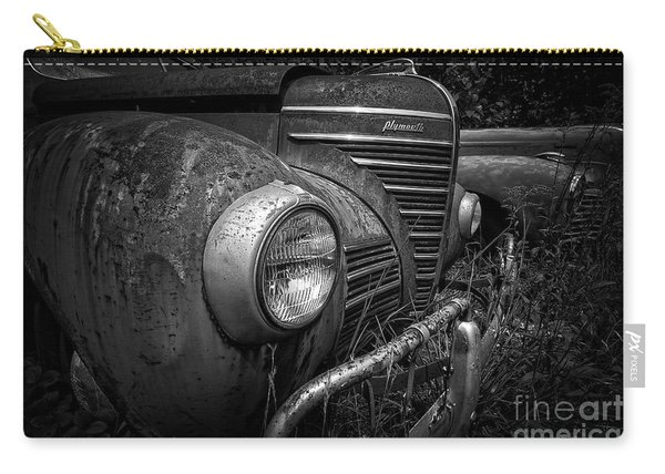 Old Junkers Black And White Carry-all Pouch