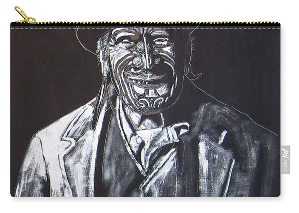 Carry-all Pouch featuring the painting Old Maori Tane by Richard Le Page