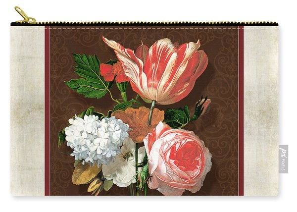 Old Masters Reimagined - Parrot Tulip Carry-all Pouch