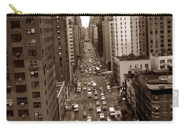 Old New York Photo - 10th Avenue Traffic Carry-all Pouch