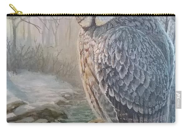 Old Owl In The Mist Carry-all Pouch