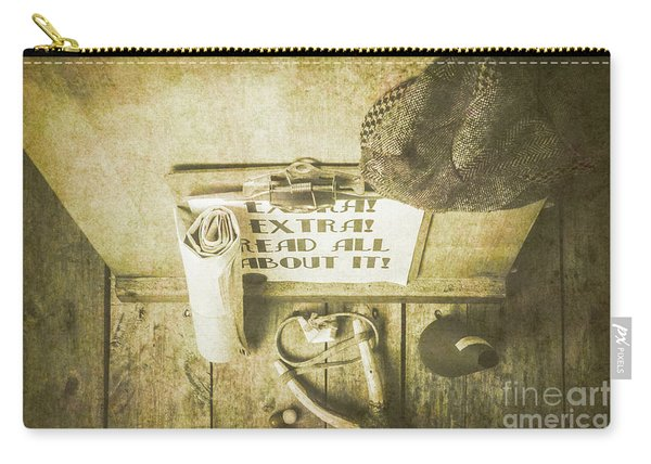 Old Paper Boy News Stand Carry-all Pouch