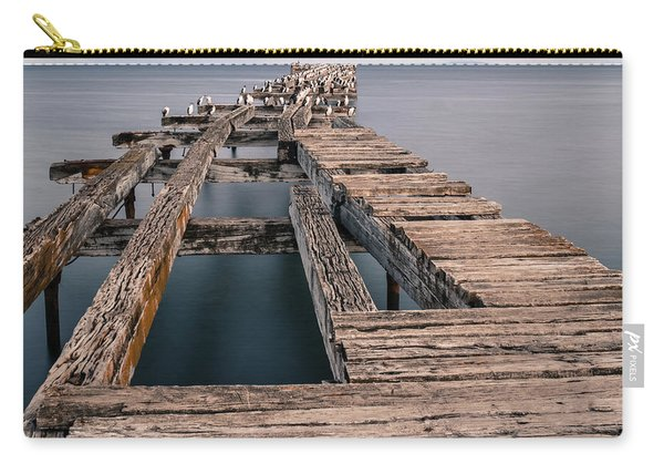 Old Pier In Punta Arenas Carry-all Pouch