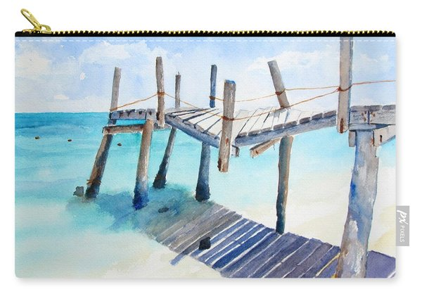 Old Pier On Playa Paraiso Carry-all Pouch