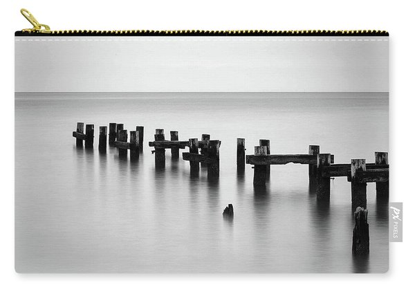 Old Pilings Black And White Carry-all Pouch