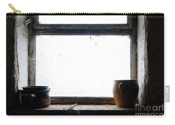Old Pots And Stoneware Jar On Window Carry-all Pouch