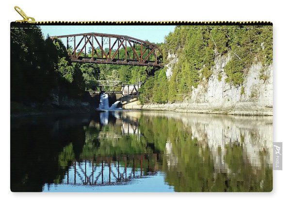 Old Railway Bridge Over The Winooski River Carry-all Pouch