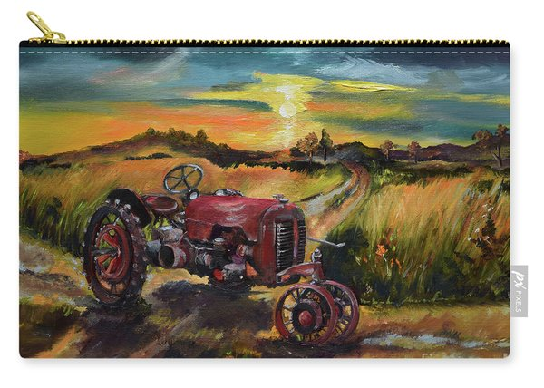 Old Red At Sunset - Tractor Carry-all Pouch