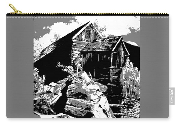Carry-all Pouch featuring the digital art Old Rocky Mill by Deleas Kilgore